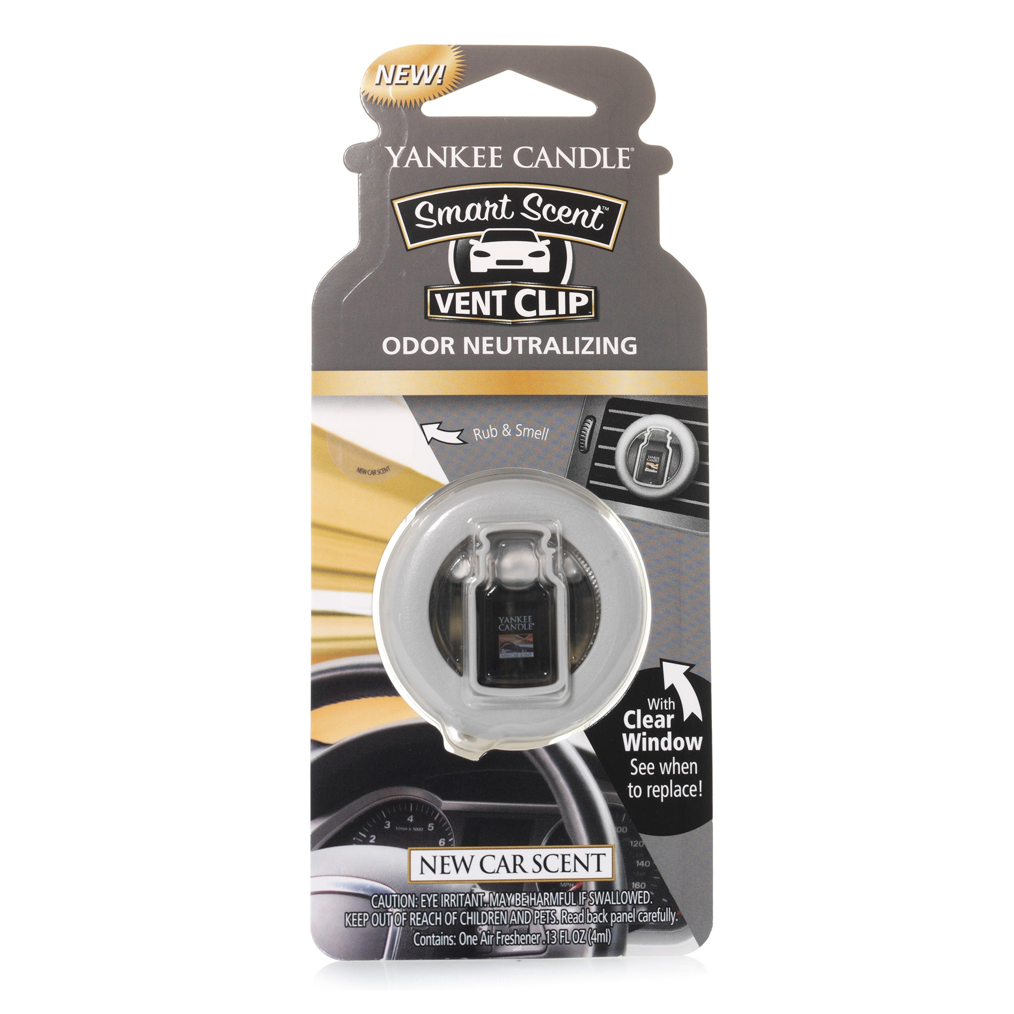 NEW CAR SCENT -Yankee Candle- Smart Scent Vent Clip