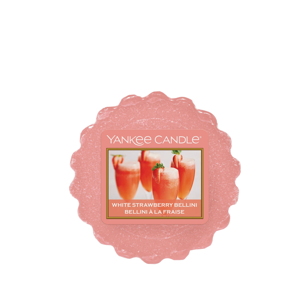 WHITE STRAWBERRY BELLINI -Yankee Candle- Tart