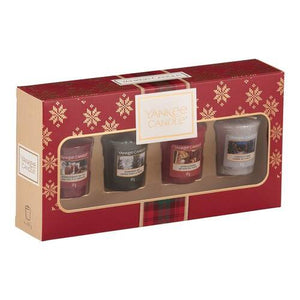 SET 4 CANDELE SAMPLER -Yankee Candle- Confezione Regalo Alpine Christmas