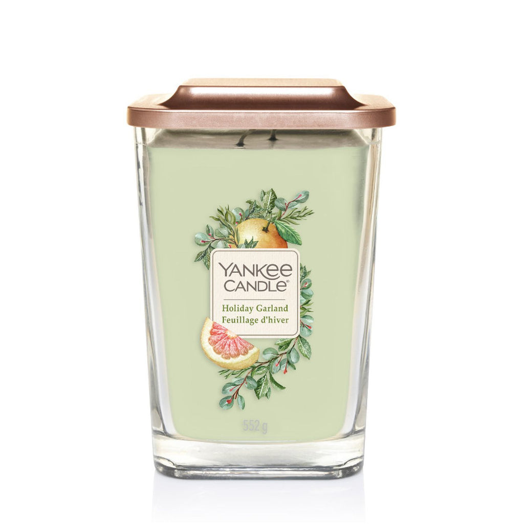 HOLIDAY GARLAND -Yankee Candle- Candela Grande
