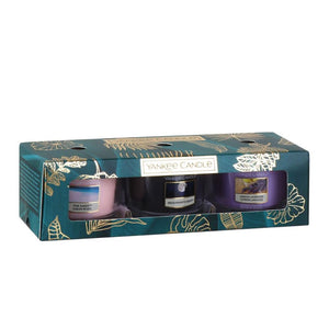 SET 3 CANDELE SAMPLER IN VETRO -Yankee Candle- Confezione Regalo The Last Paradise