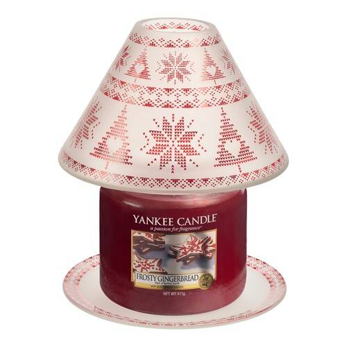 RED NORDIC FROSTED GLASS -Yankee Candle- Paralume e Piatto Grande
