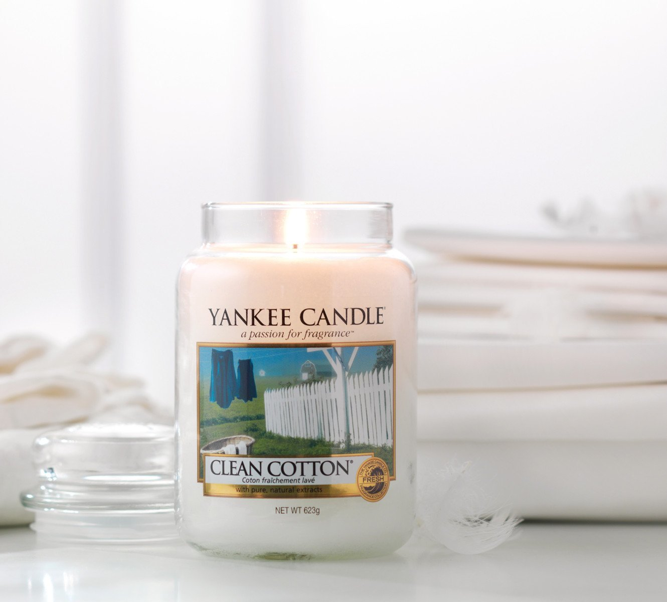 CLEAN COTTON -Yankee Candle- Candela Sampler