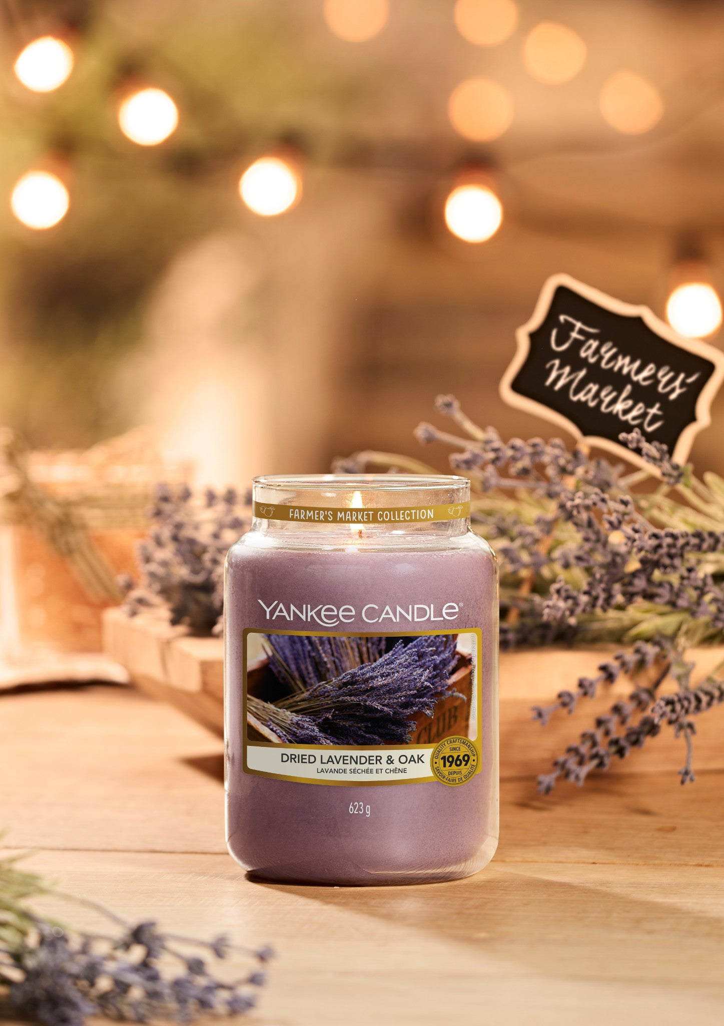 DRIED LAVENDER & OAK -Yankee Candle- Candela Sampler