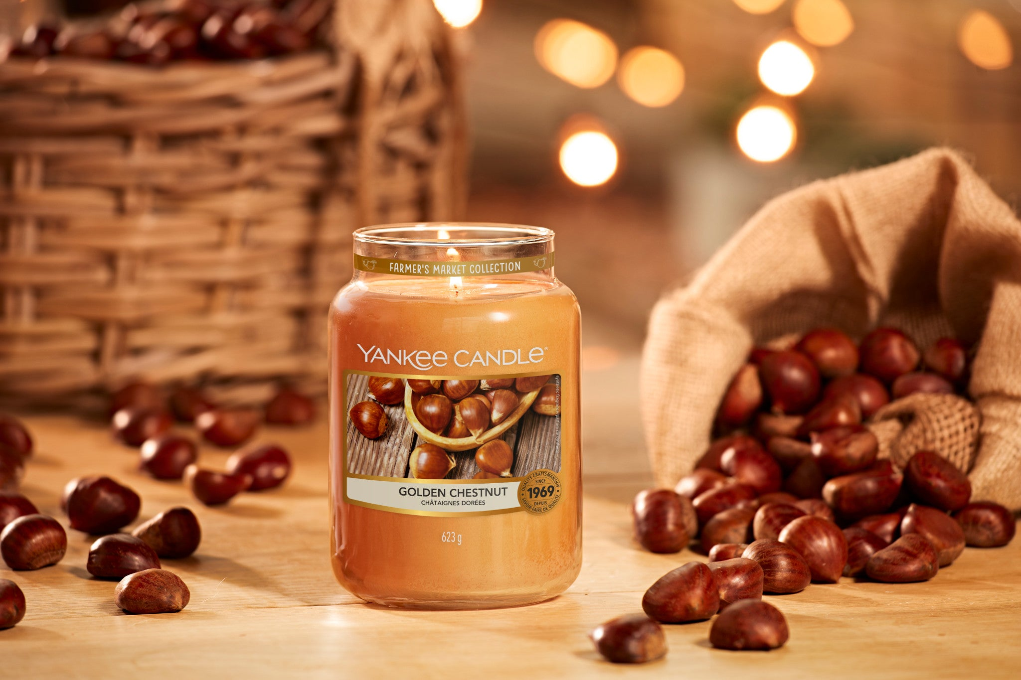 GOLDEN CHESTNUT -Yankee Candle- Giara Piccola