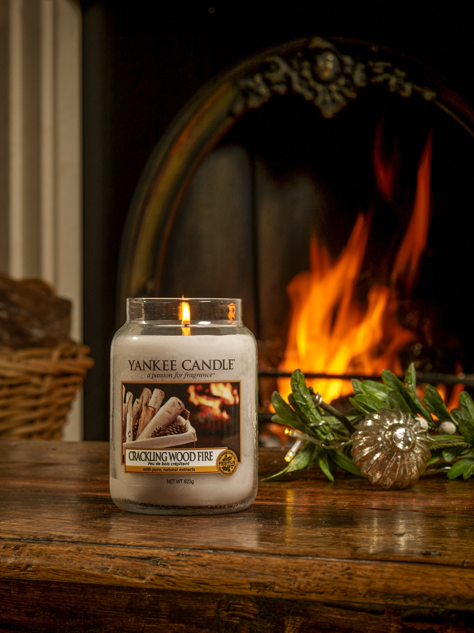 CRACKLING WOOD FIRE -Yankee Candle- Giara Grande