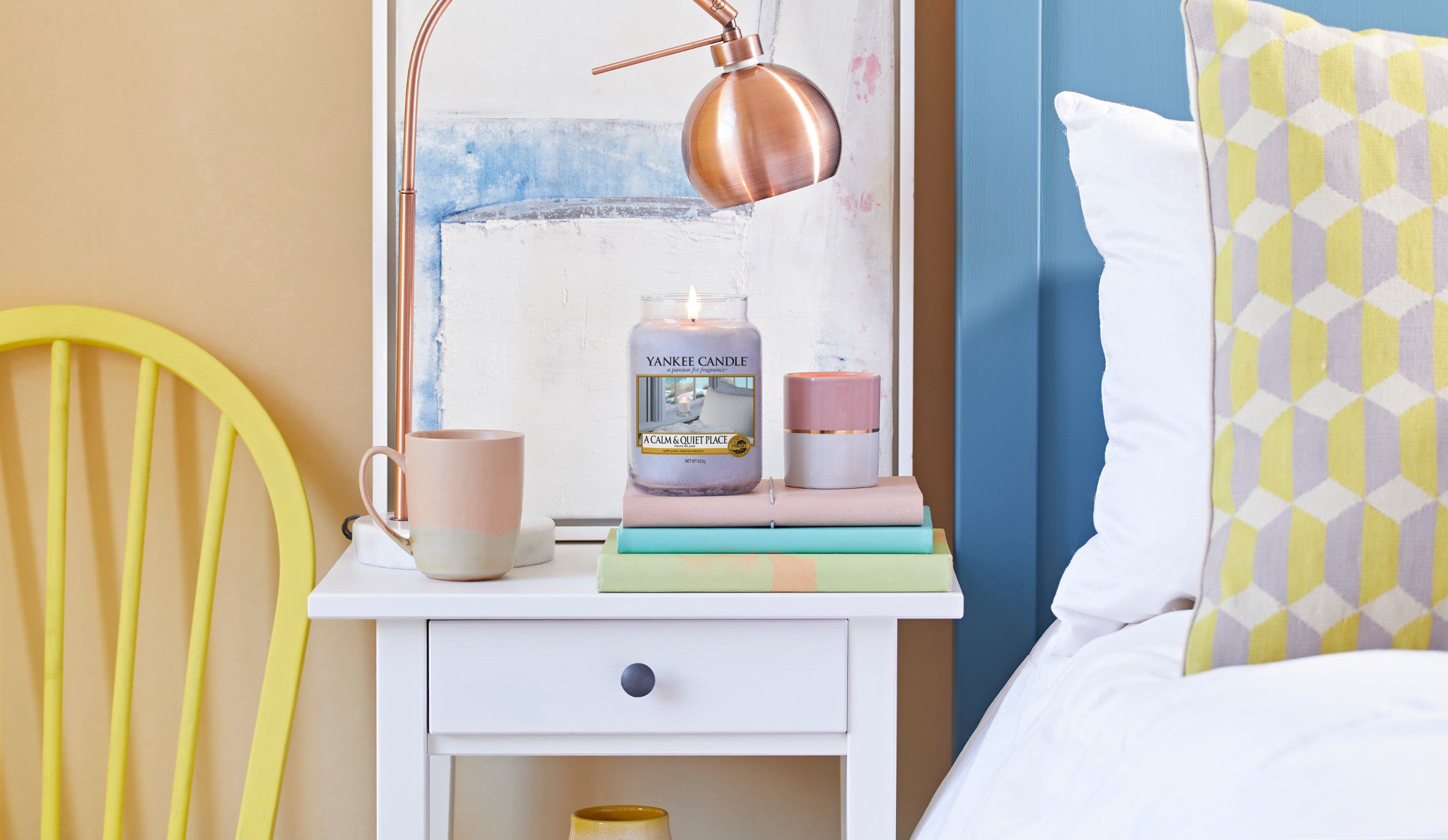 A CALM & QUIET PLACE -Yankee Candle- Giara Piccola