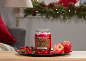 RED APPLE WREATH -Yankee Candle- Tea Light
