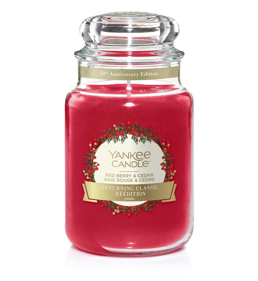 RED BERRY & CEDAR -Yankee Candle- Giara Grande