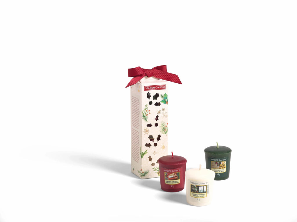 SET 3 CANDELE SAMPLER -Yankee Candle- Confezione Regalo Natale 2020