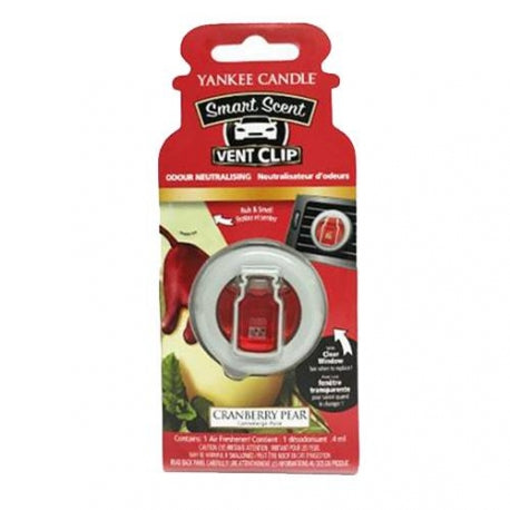 CRANBERRY PEAR -Yankee Candle- Smart Scent Vent Clip