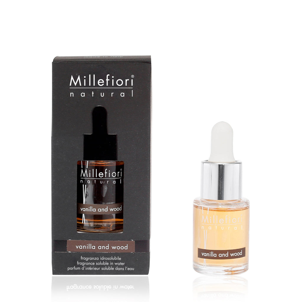 VANILLA & WOOD -Millefiori Milano- Fragranza Idrosolubile (15ml)