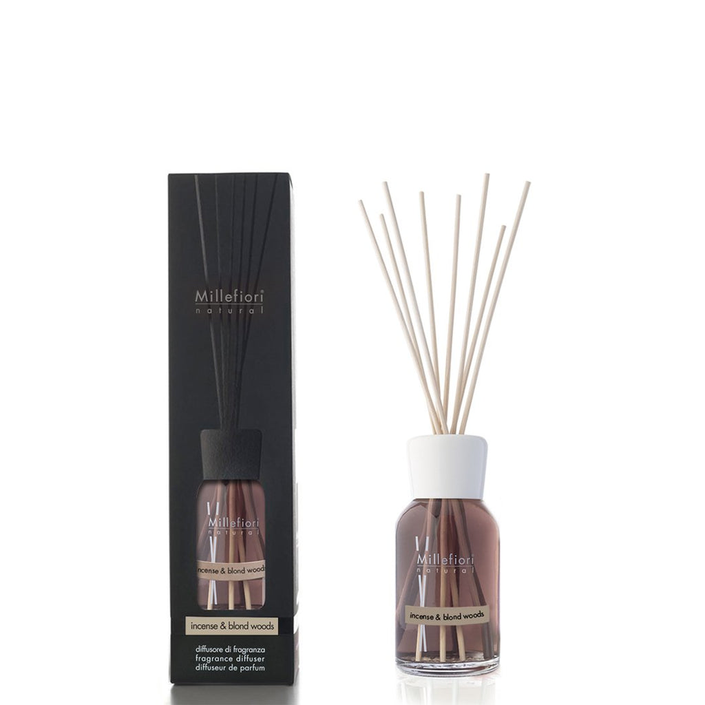 INCENSE & BLOND WOODS -Millefiori Milano- Diffusore a Bastoncino Piccolo (100ml)