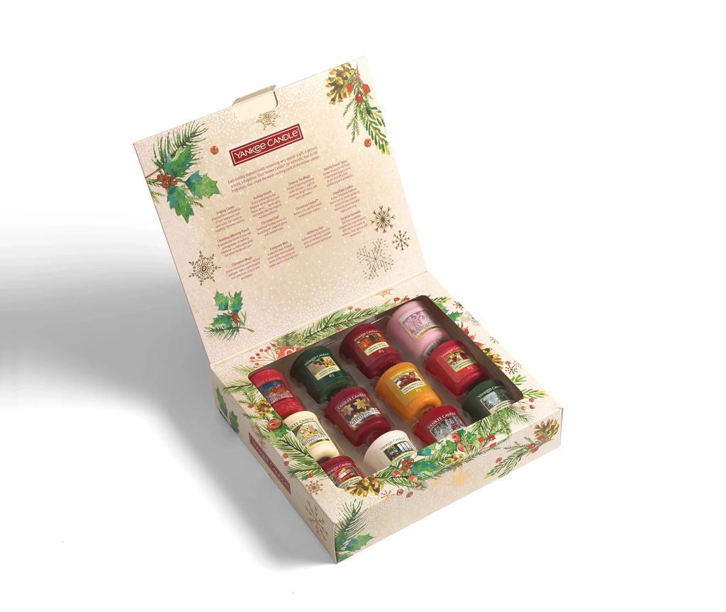 SET 12 CANDELE SAMPLER -Yankee Candle- Confezione Regalo Natale 2020