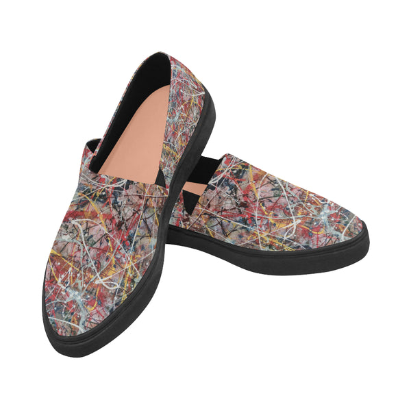 Huge Scatter Naiad Pointed Toe Slip-on Canvas Women's Shoes