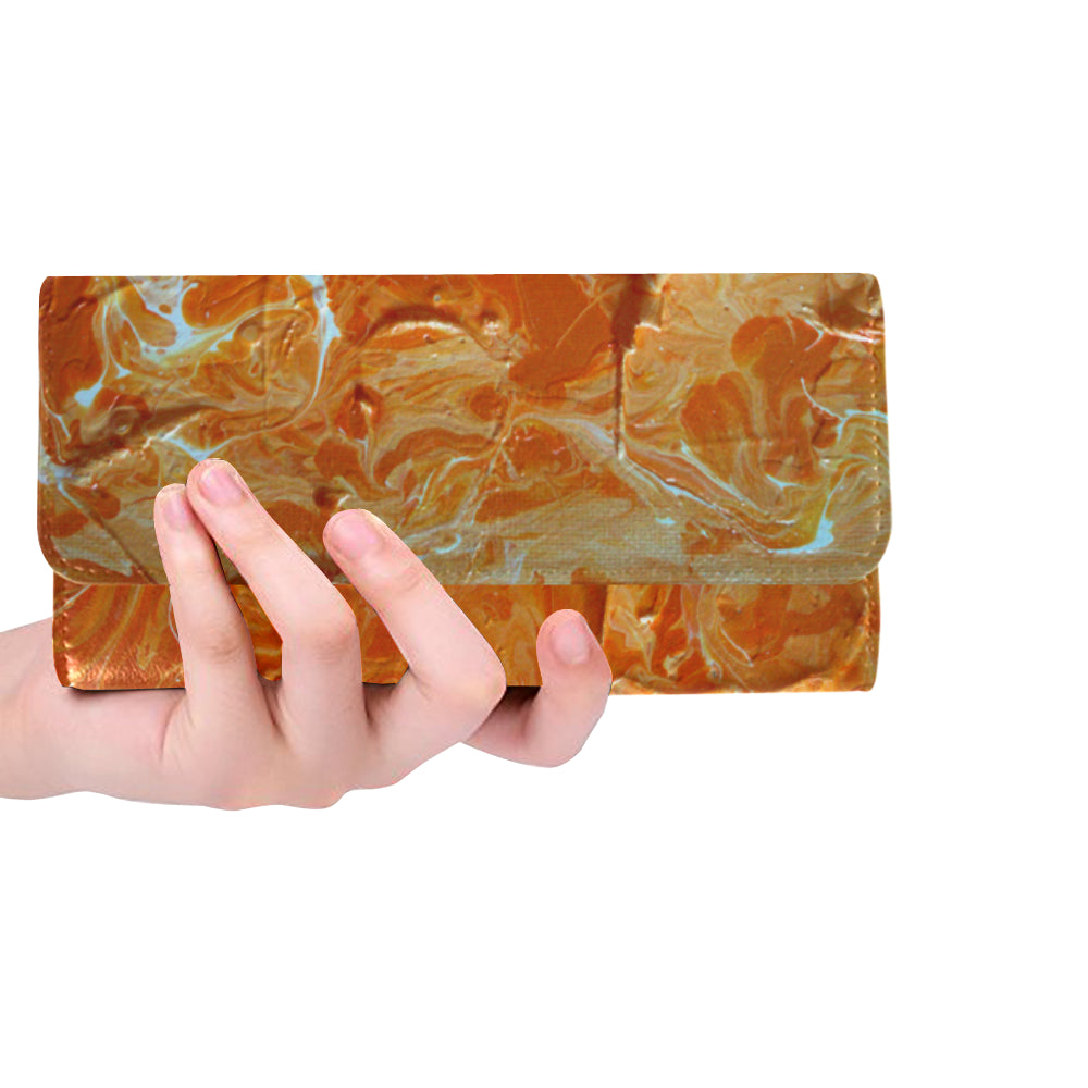 Tennessee#1 Women's Trifold Long Clutch Wallets