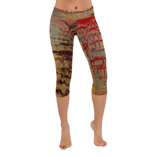 Disintegrated Echo All-Over Low Rise Capri Leggings