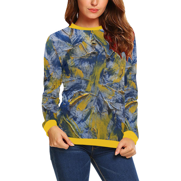 Nashville Predators #1 Women's All Over Print Sweatshirt