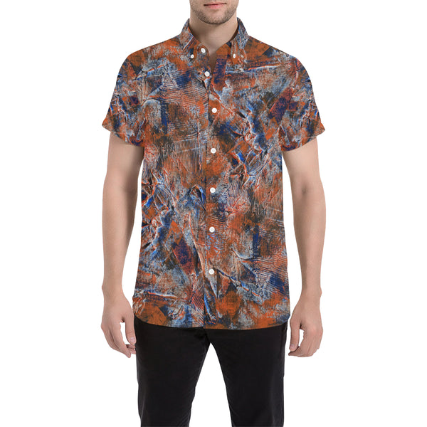 Auburn#2 Men's All Over Print Short Sleeve Shirt (Large Size)