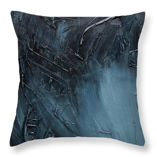 Complex Blues - Throw Pillow