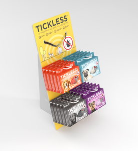 Tickless Standing Display with Collar - TicklessUSA