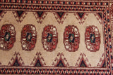 No. 0076 Beige And Maroon Vintage Bokhara Runner (2'2 x 6'3)
