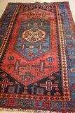 No. 0097 Vintage Gorgeous Colored Hamadan Rug (7'3 x 4'5)
