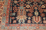 No. 0077 Blue/red Armenian Antique Rug (4'5 x 6'2)