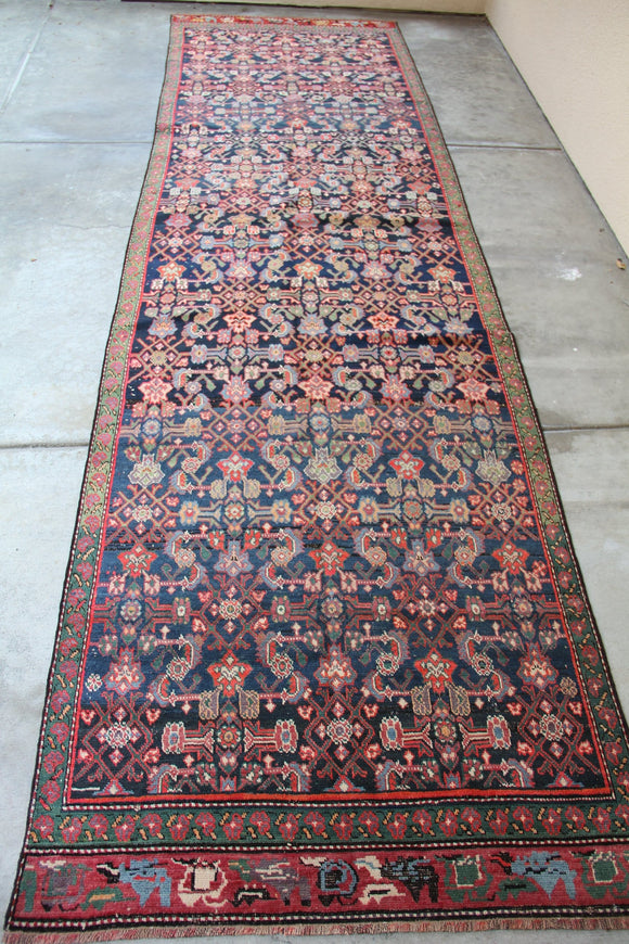 No. 0037 Vibrant colored Persian Runner