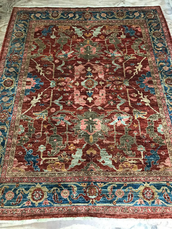 New Production #1 Oushak Design bold colored rug (7'5x6'5)