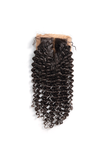 Malaysian Curly Deep Wave Middle Part Lace | Silk Base Closure