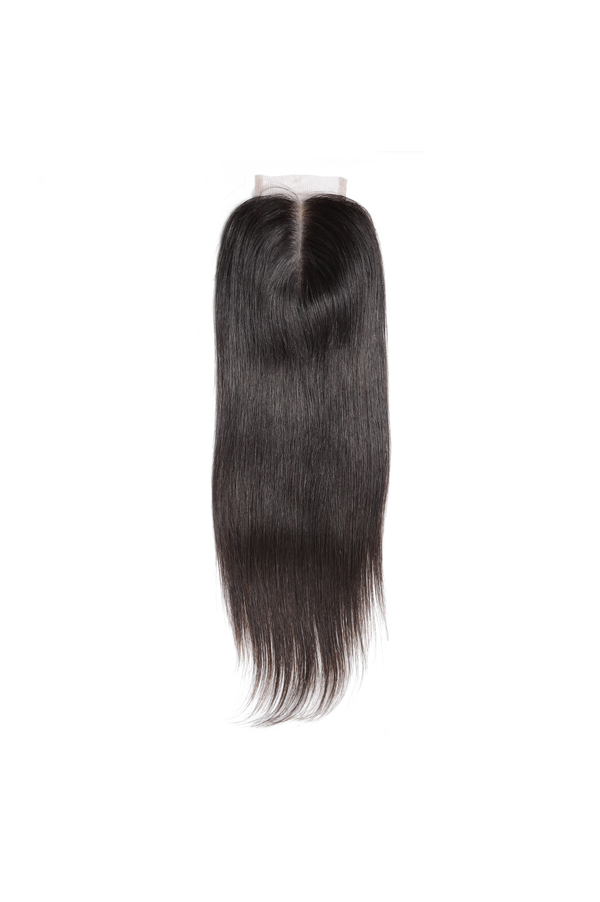 Peruvian | Straight Middle Part Lace or Silk Base Closure