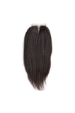 Brazilian Kinky Straight Middle Part Lace Closure