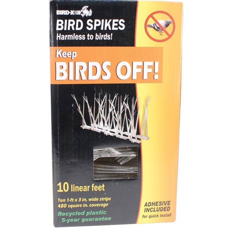 Plastic Bird Spike Kit, 10 ft.