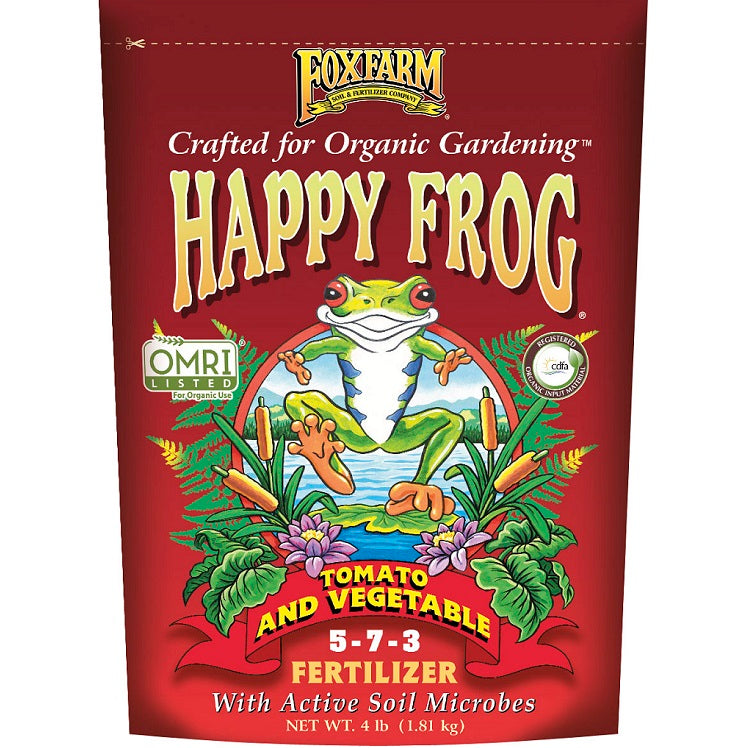 FoxFarm Happy Frog Tomato & Vegetable Organic Fertilizer, 4 Lbs.