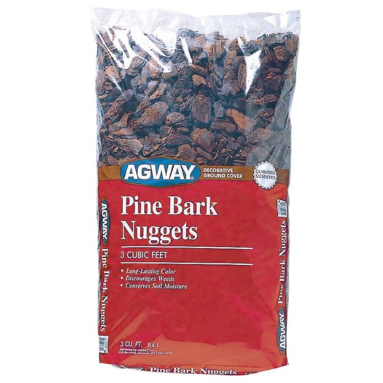 Agway Pine Bark Nuggets, 3 Cubic Ft. Bag