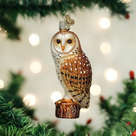 Old World Christmas Barn Owl Ornament