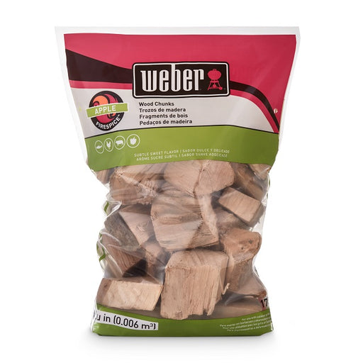 Weber Apple Wood Chunks, 350 cu. in.