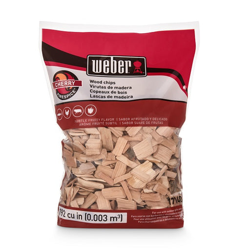 Weber Cherry Wood Chips, 192 cu. in.