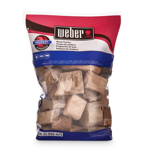 Weber Hickory Wood Chunks, 650 cu. in.