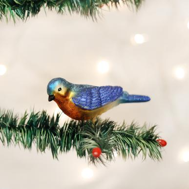 Old World Christmas Clip-On Western Bluebird Ornament