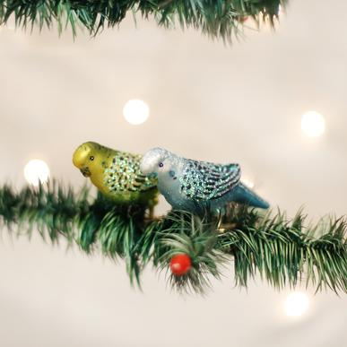 Old World Christmas Clip-On Miniature Parakeet Ornament, Assorted