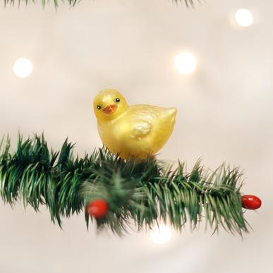 Old World Christmas Baby Chick Ornament