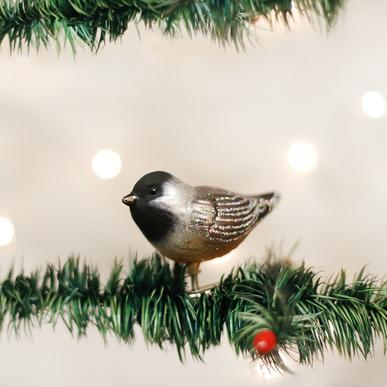 Old World Christmas Clip-On Cheery Chickadee Ornament