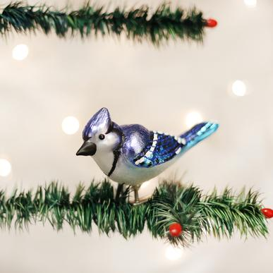 Old World Christmas Clip-On Blue Jay Ornament