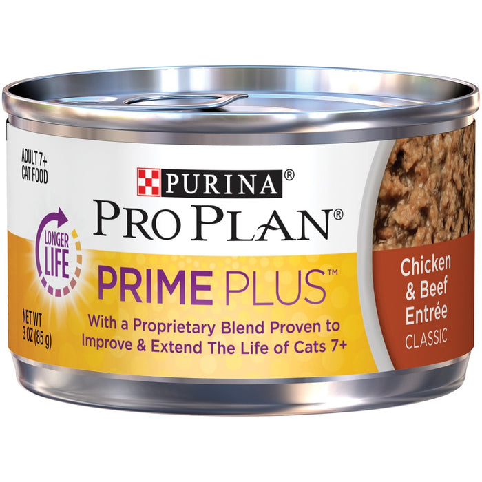 Purina Pro Plan Prime Plus 7+ Chicken & Beef Entree Classic Canned Cat Food