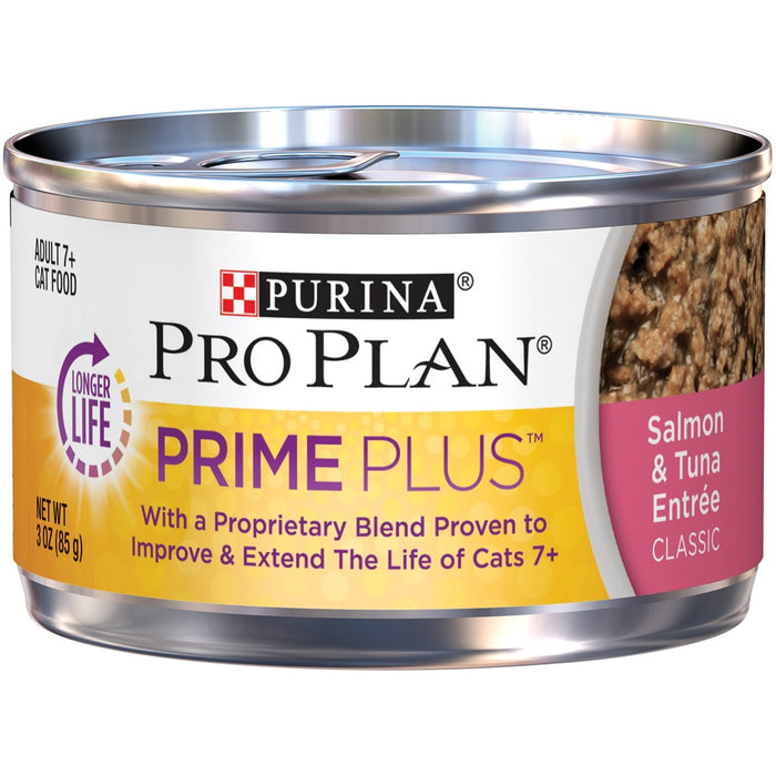 Purina Pro Plan Prime Plus 7+ Salmon & Tuna Entree Classic Canned Cat Food