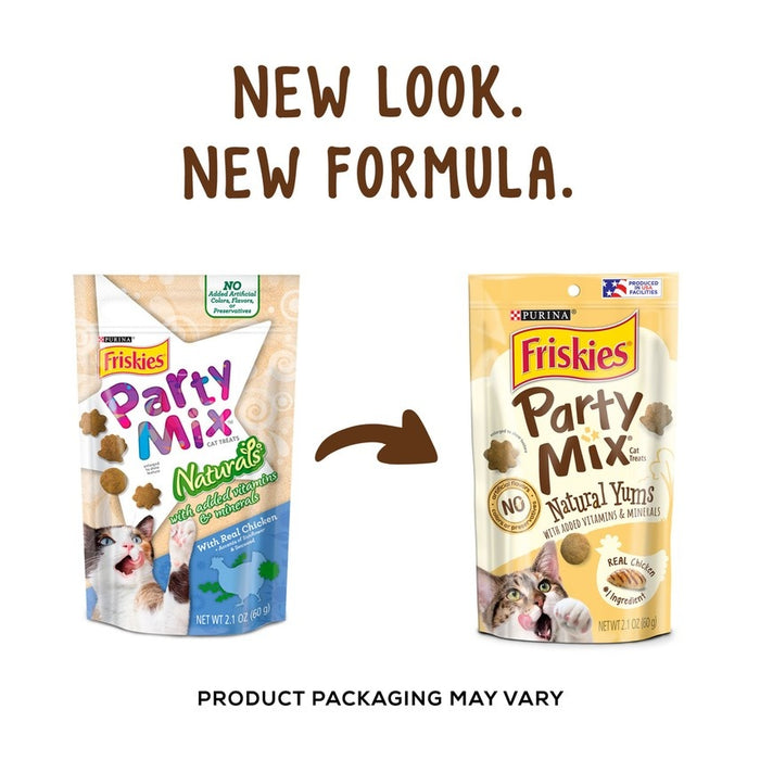 Friskies Party Mix Naturals Chicken Flavor Cat Treats