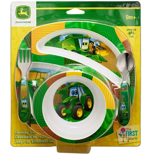 John Deere Johnny Tractor and Friends 4-Piece Feeding Set