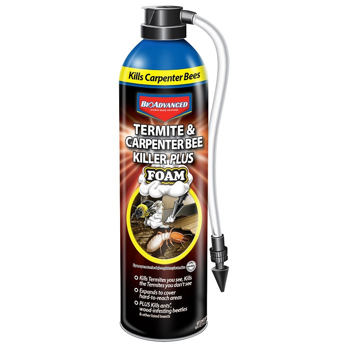 Termite & Carpenter Bee Killer Foam,18 oz, Ready-to-Use, BioAdvanced
